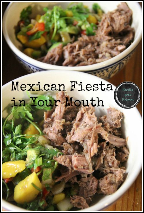 Mexican Fiesta Bowls with Carnitas & Salsa - Foodie goes Primal