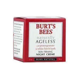 Burt's Bees: Naturally Ageless Night Cream, 2 oz by Burt's Bees. $24.98. 2 ounce container. with pomegranate and white birch bark. hydrating night cream. burt's bees naturally ageless. ###############################################################################################################################################################################################################################################################