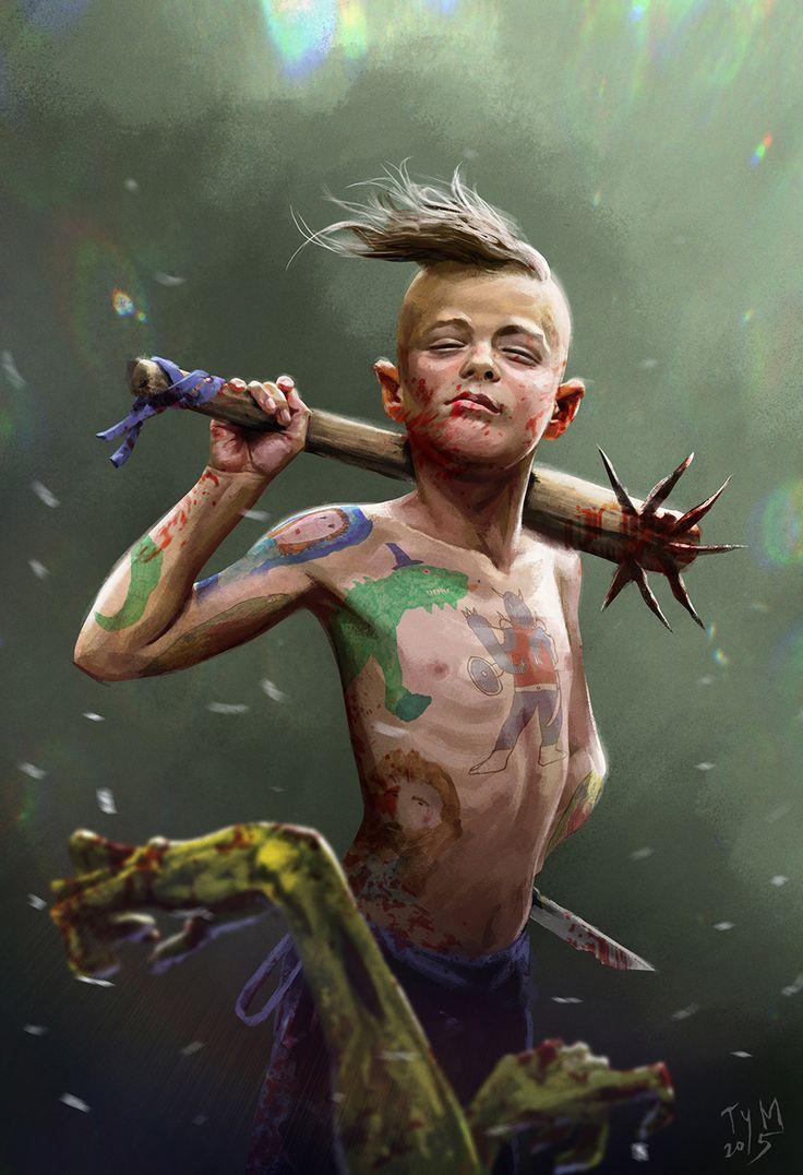 Boy barbarian Survivor. Concept art. on Behance by Mihai Tymoshenko