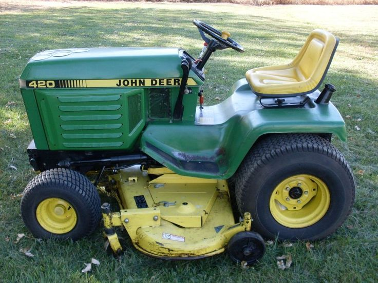 John deere 420 garden tractor with 60 deck tractor for Outdoor garden equipment