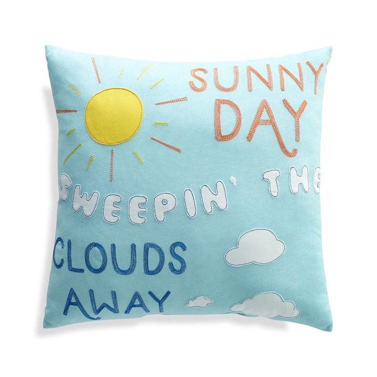 Shop Sesame Street Theme Song Throw Pillow. The Sesame Street Theme Song Pillow features lyrics from the classic tune, plus cheerful appliqued and embroidered details that illustrate the words.