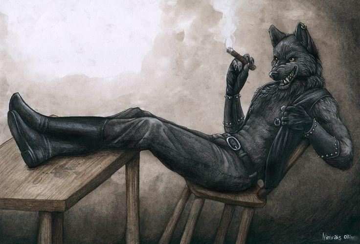 Black Wolf by ~Nimrais on deviantART (Reminds me of Austen)