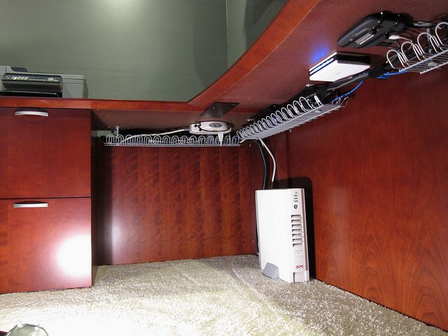 Best 25 cable management ideas on pinterest cord - Under desk cord organizer ...