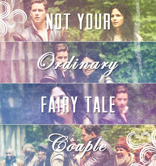 Not your ordinary fairy tale couple.  Snow and Prince Charming.  Once Upon a Time