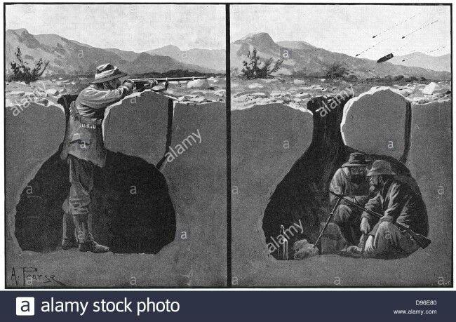 Anglo-Boereoorlog.  Boereloopgraaftegniek.