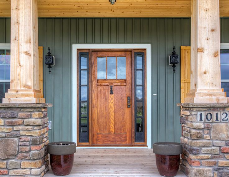 Board And Batten Cedar Pillars Antique Door