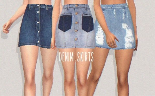 Pure Sims: Denim skirts • Sims 4 Downloads