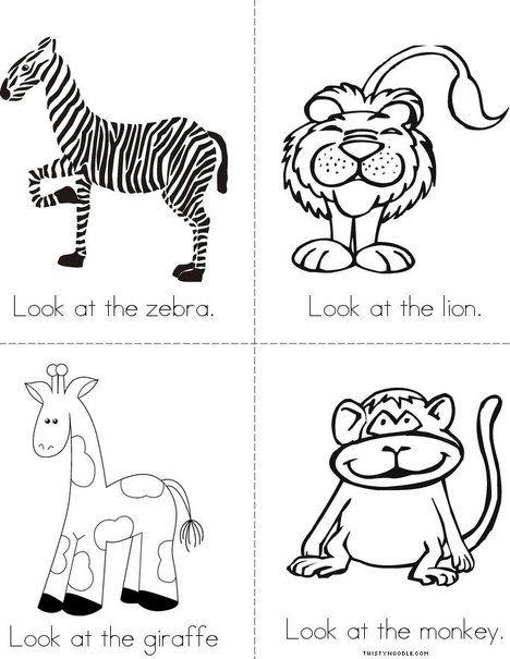 The Zoo Mini Book from TwistyNoodle
