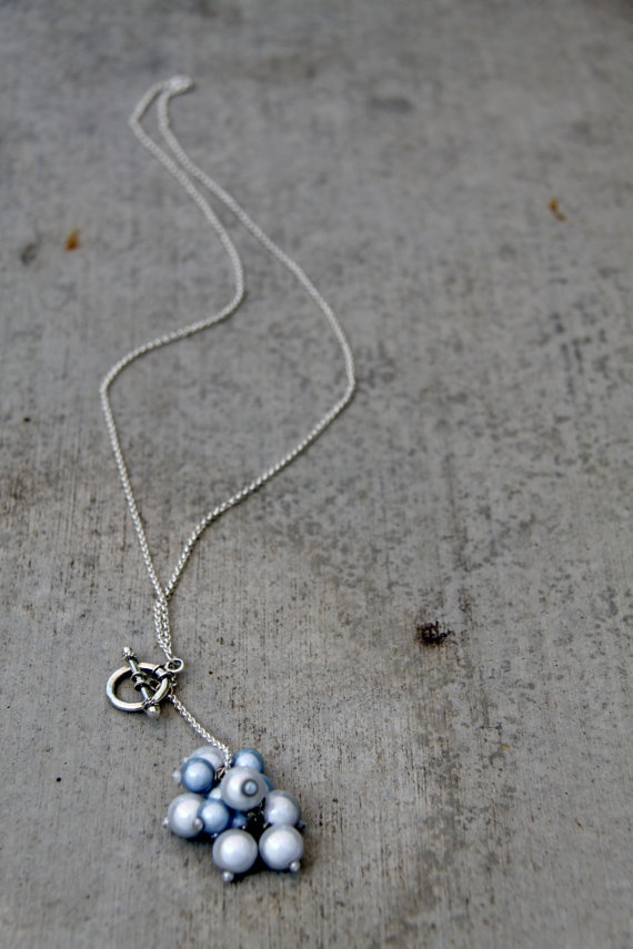 simple charm long necklace