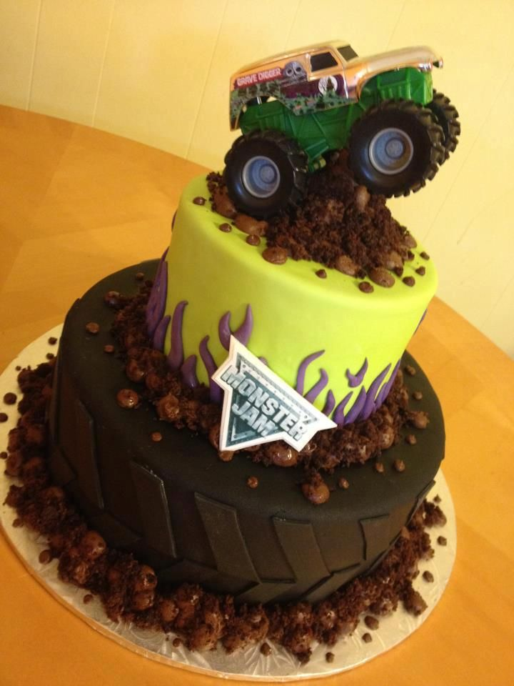 grave digger monster truck cake - Google Search