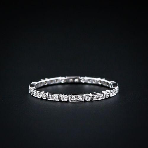 antique milgrain and micro-diamond wedding band