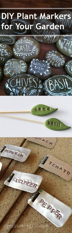 DIY Plant Markers for Your Garden- Creative plant labels and plant markers are a great way to mark your plants and garden.