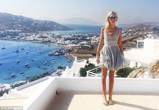 The blonde also spent time in Mykonos lastsummer, where she spent time on the sea and at local nightclubs