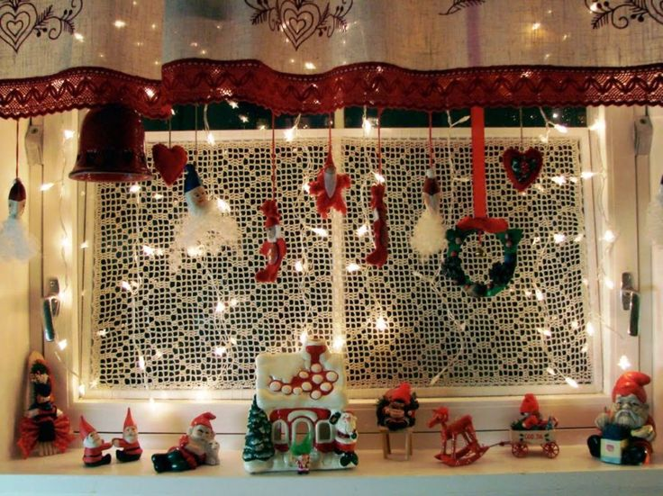 Decoration Red Bell For Stylish Christmas Window Feat Hanging Artificial Wreath With Santa Fairies