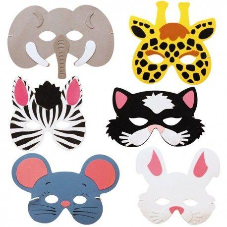 6 Masques Animaux Déguisements                                                                                                                                                                                 Plus
