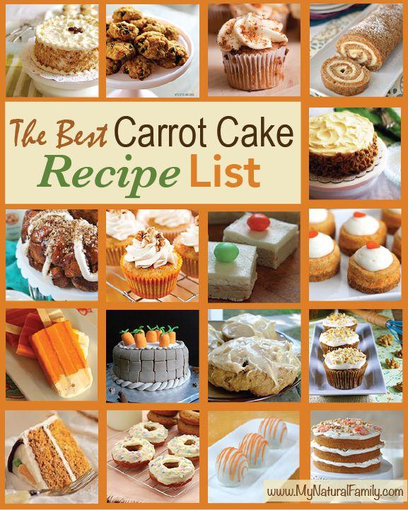 The Best Carrot Cake Recipe List {60 Top Carrot Cake Recipes} - MyNaturalFamily.com #carrot #cake #recipe