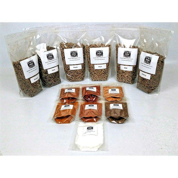 BBQ Variety pack 12 lbs BBQ pellets and 6 BBQ rubs