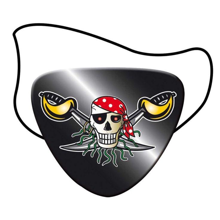 Rode Piraat Ooglapjes piraten - 8 stuks.