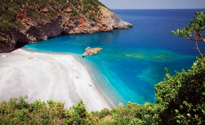 Petalioi beach in North Evia, Greece