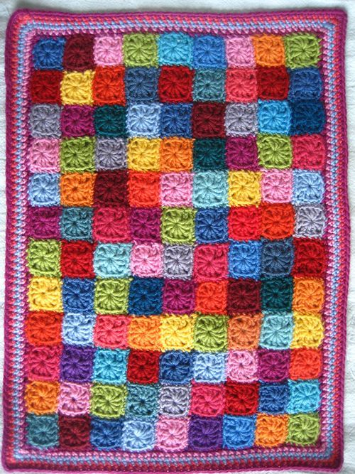 little squares doll blanket - stash buster (instructions at bottom here: http://attic24.typepad.com/weblog/2013/02/little-squares.html)