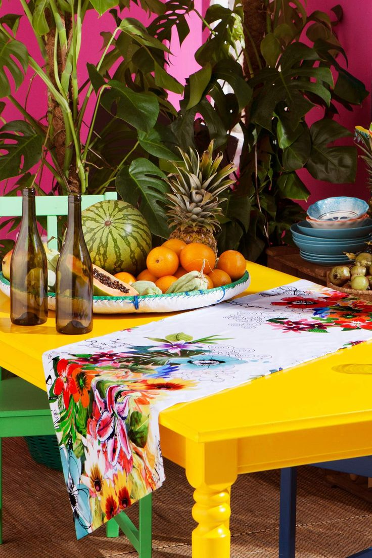 Floral table runner desigual jungle desigual home - Desigual home decor ...