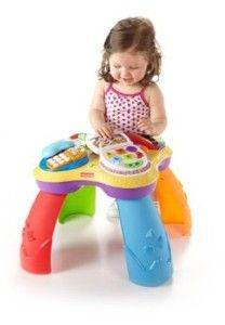 Fisher Price Toys 6-12 Months: Laugh & Learn Puppy & Friends Learning Table It has a ton of things to keep baby entertained, from the interactive parts, to a variety of sound options. There are over 60 songs, tunes and phrases. http://awsomegadgetsandtoysforgirlsandboys.com/fisher-price-toys-6-12-months/ Fisher Price Toys 6-12 Months: Laugh & Learn Puppy & Friends Learning Table