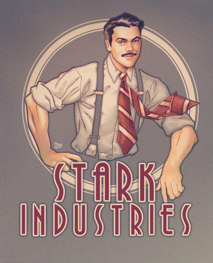 Stark Industries by studiomia || Howard Stark || 736px × 908px || #fanart