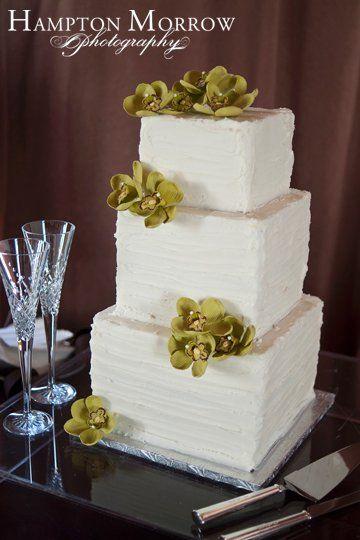 Green Wedding Cakes, Wedding Cakes Photos by Hampton Morrow Photography