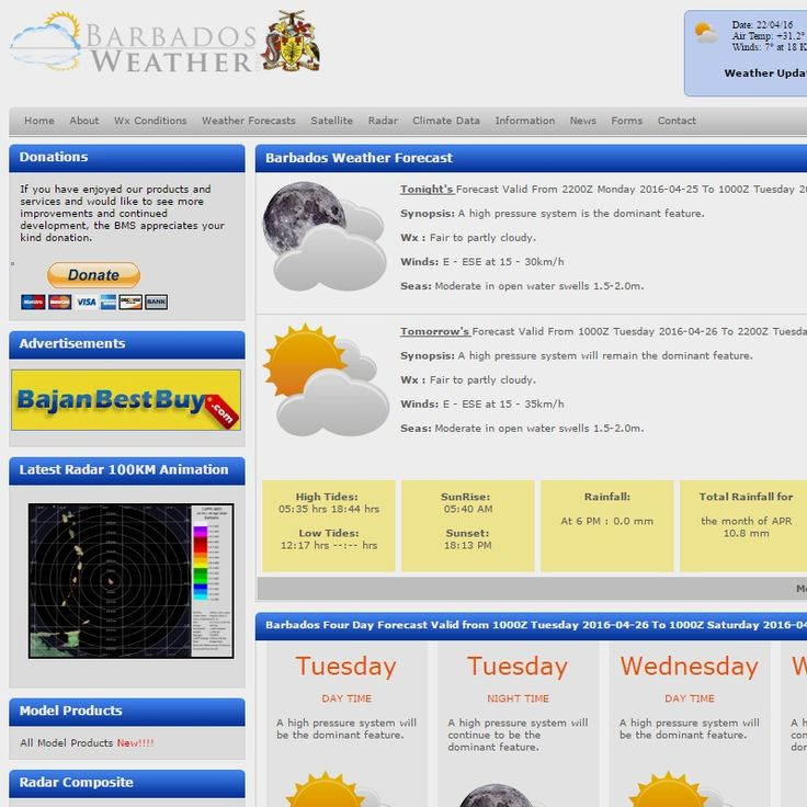 Barbados Weather | BarbadosWeather.org providing quality, reliable Barbados weather, news, forecasts and ocean information.