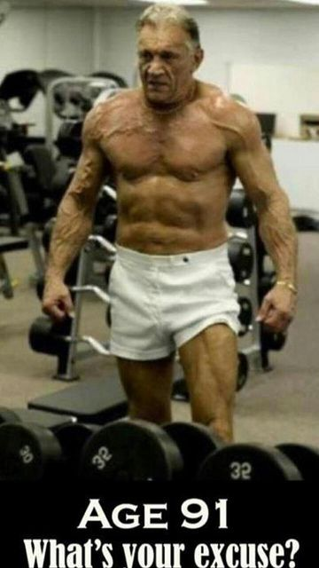 Much respect for this guy for going strong for decades #Teamnoexcuses