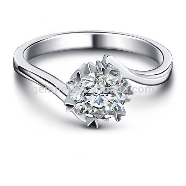 Wholesale Fashion 925 sterling silver cheap price 1 carat diamond ring size 7-9 From m.alibaba.com