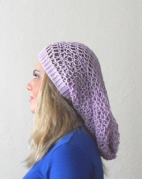 purple lilac hat cap circle purple lilac bonnet by DamlaScarf