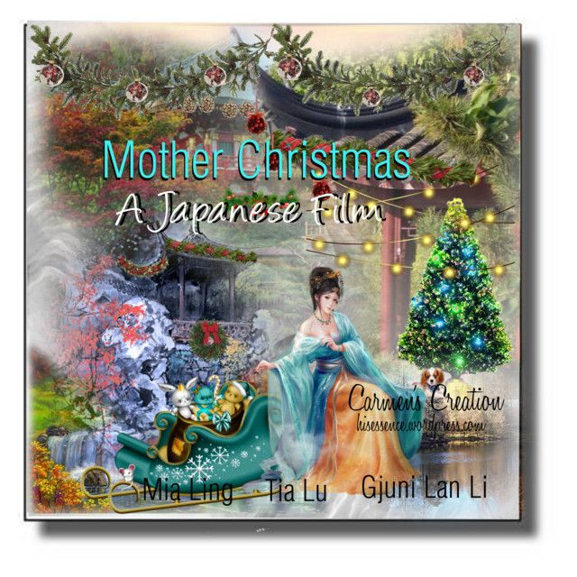 """""""Journi's """"Mother Christmas - A Japanese Film"""""""" by carmen-ireland ❤ liked on Polyvore featuring art"""