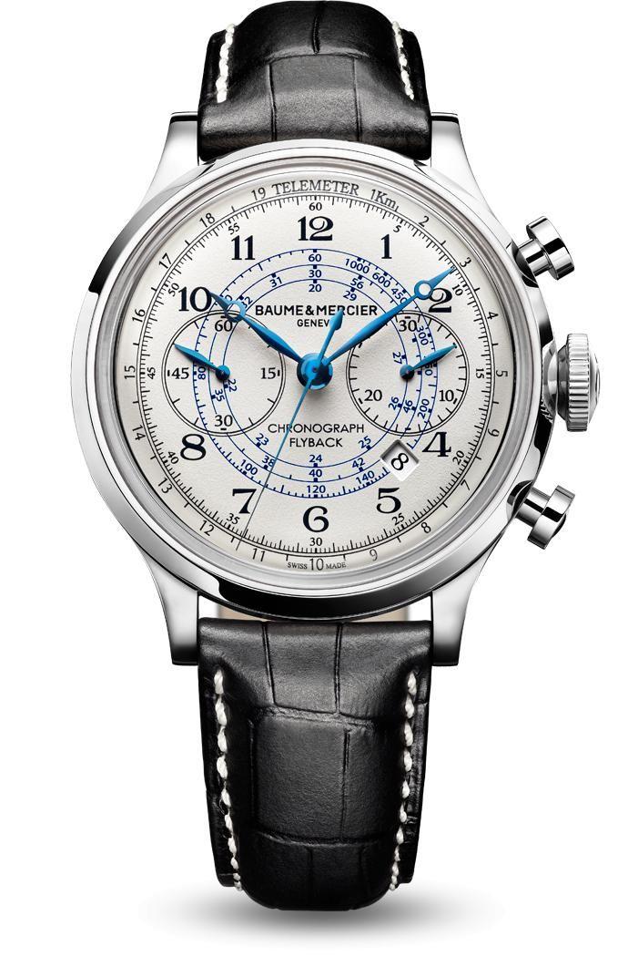 Découvrez la montre chronographe homme Capeland 10006, conçue par Baume et Mercier, manufacture de montres suisses.