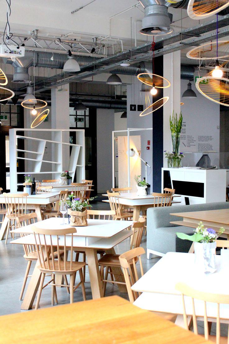 Concordia Taste, restauracja, industrialne wnętrze, dekoracja, design, industrial interior, restaurant, light, decoration by School of Form students