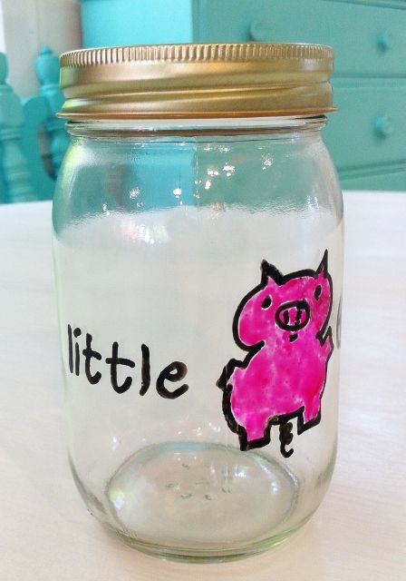 39 best images about kids piggy banks on pinterest jars for Cool money jars