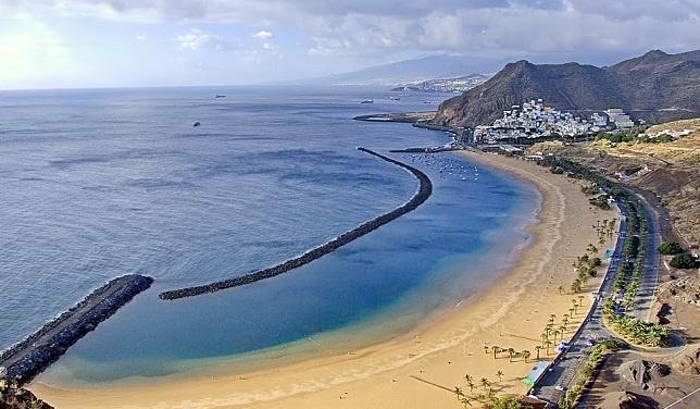 Playa de Las Teresitas, en San Andrés, Santa Cruz de Tenerife.