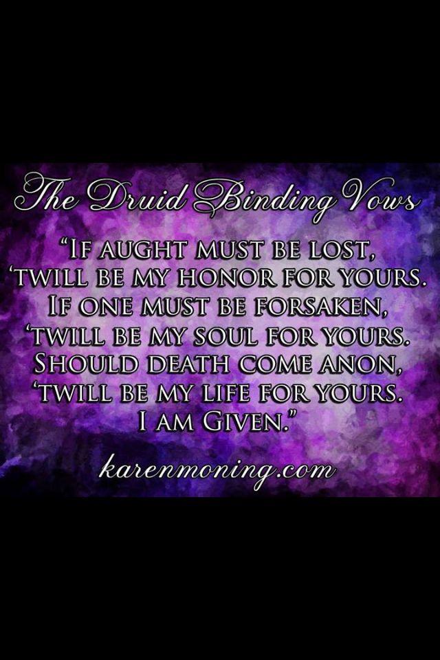 Karen Marie Moning- Druid binding vows . The Highlander Series