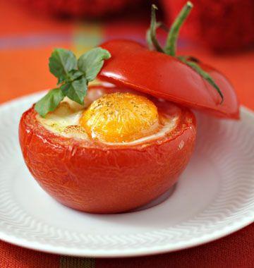 Oeuf cocotte en tomate - les meilleures recettes de cuisine d'Ôdélices