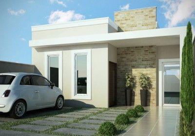 Fachadas de casas de un piso bonitas moderna