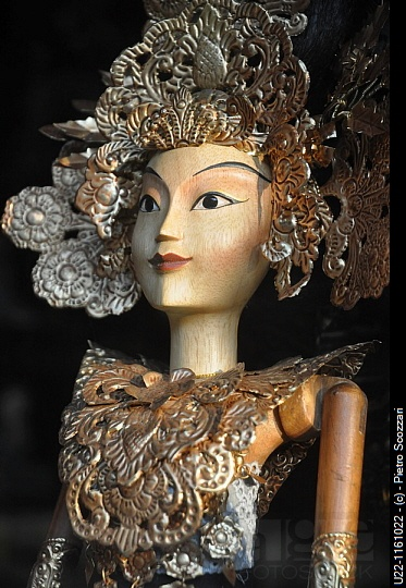 Ubud (Bali, Indonesia): a traditional Balinese puppet,