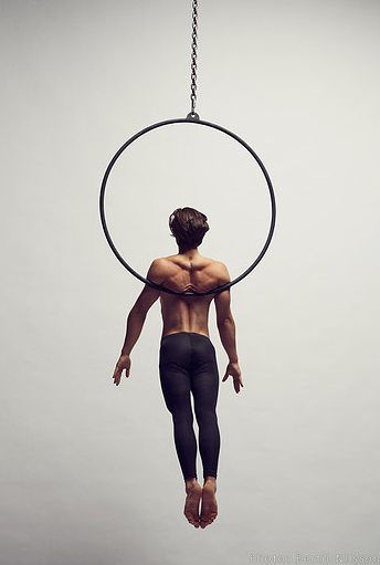 Back Hang on aerial hoop. WHAT IS THIS MADNESS - how is this even possible!!!