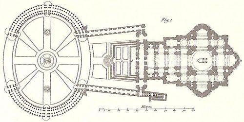 Planta de la BASILICA DE SAN PEDRO - Roma (Italia) Arquitecto: Carlo Maderno