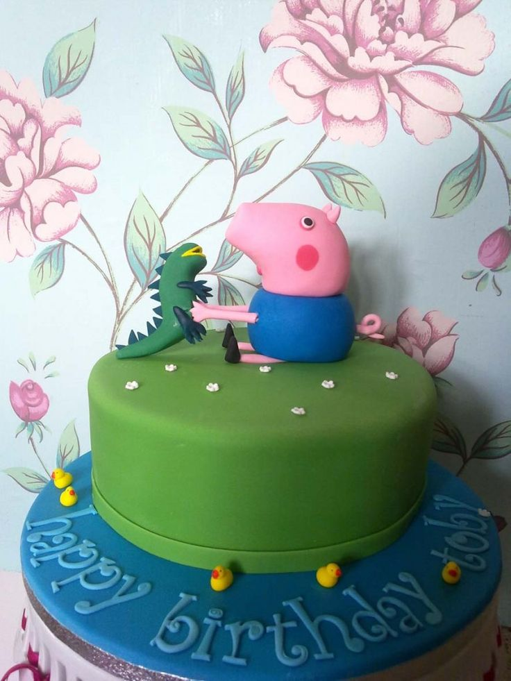 The 25 best George pig cake ideas on Pinterest Peppa pig