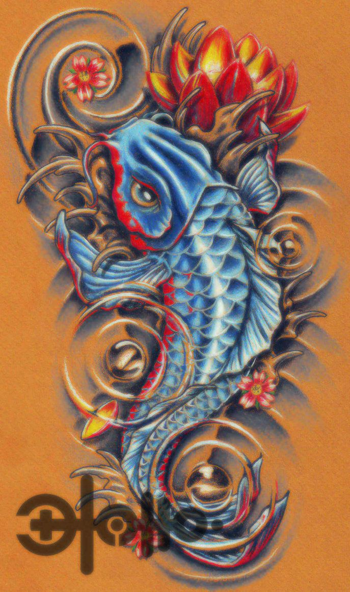 tatto: Koi Fish Tattoo