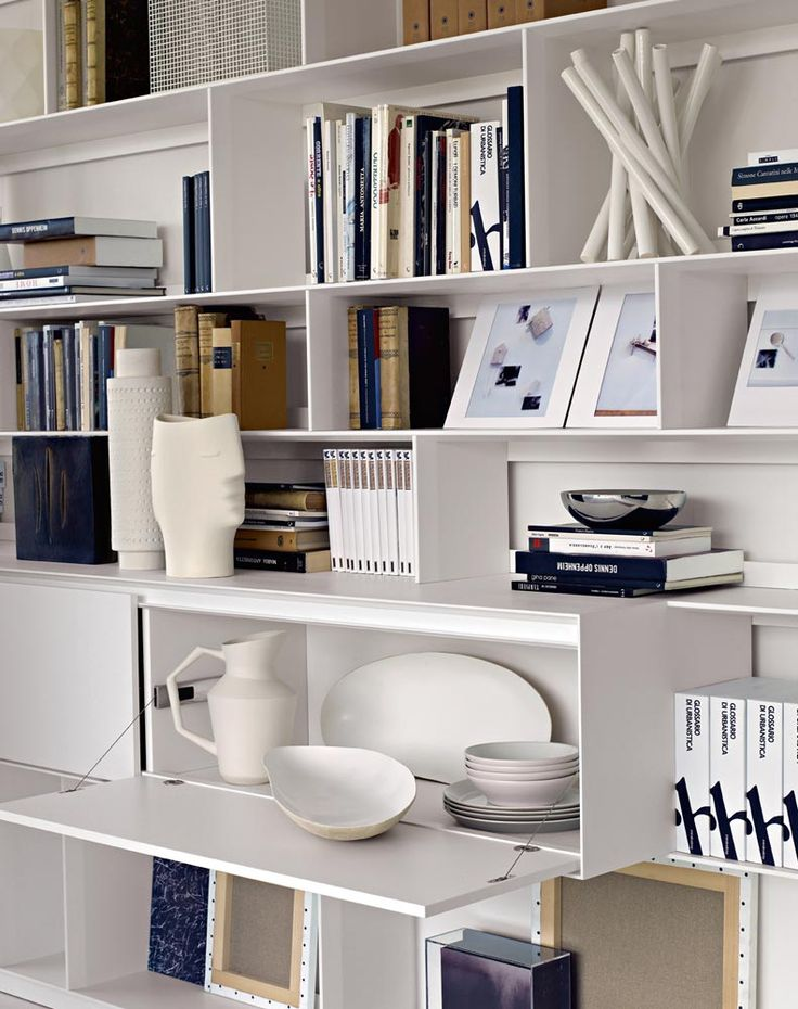 System Bookcase: FLAT.C   Collection: Bu0026B Italia   Design: Antonio