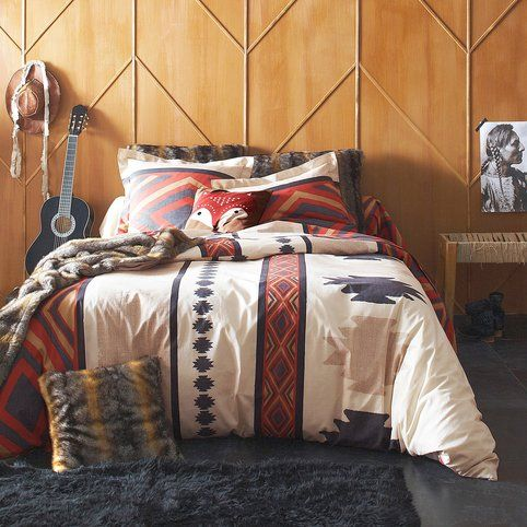 Housse de couette dessin indien WYOMING multicolor