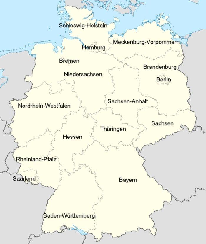 die besten 25 karte bundesl nder ideen auf pinterest landkarte deutschland bundesl nder. Black Bedroom Furniture Sets. Home Design Ideas