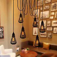 Κρεμαστά+Φωτιστικά+LED+Μοντέρνο/Σύγχρονο+/+Παραδοσιακό/Κλασικό+/+Ρουστίκ/Εξοχικό+/+Tiffany+/+Πεπαλαιωμένο+/+Ρετρό+/+Φανάρι+/+ΧώραΣαλόνι+/+–+EUR+€+48.49
