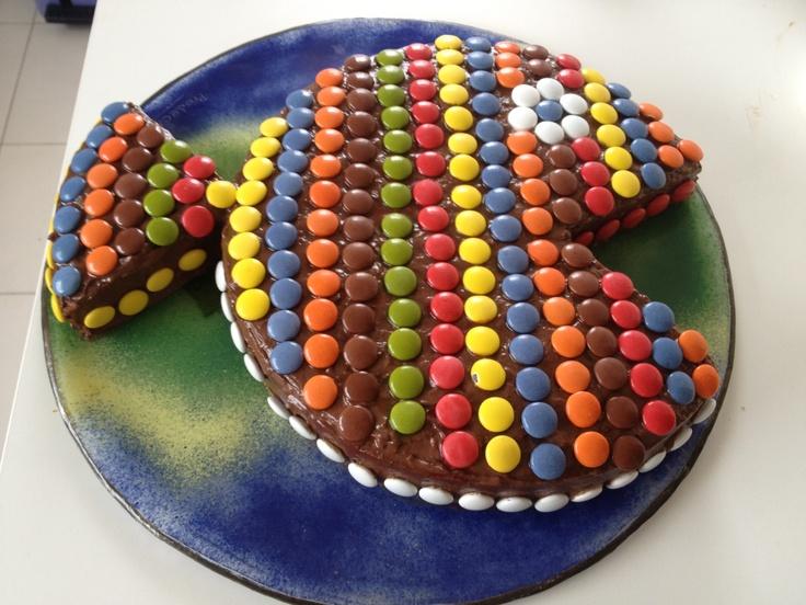 Bizcocho, chocolate, Lacasitos, pez :)